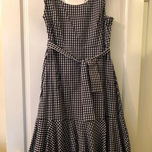 J.Crew Gingham Dress Size 14 NWT